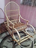 Крісло-качалка з лози