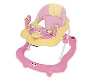Детские ходунки Bertoni  BW-10 (розовый-желтый)