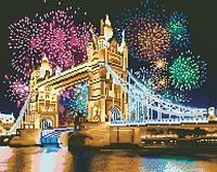 """Алмазные картины полной выкладки """"Лондон"""" Размер: 41*33см Код 198357"""