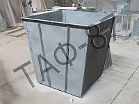 Мусорный бак для ТБО 0,75 м.куб. б/у (отреставрированный), фото 1