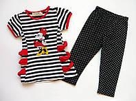 Летний костюм Minnie Mouse для девочки. 80 см