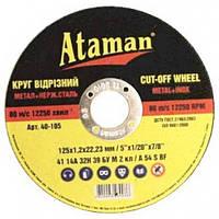 Круг отрезной по металлу Атаман 150х1,6
