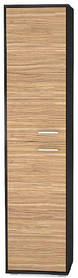 Пенал Аманда 2Д 2170х517х390мм венге темный + зебрано   Мебель-Сервис