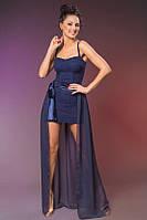 Нарядное платье гепюровое, сьемная юбка