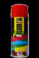 Акриловая Флуоресцентная эмаль BeLife Красная 1001, 400 мл
