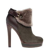 Ботинки женские зимние из натуральной кожи на каблуке