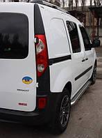 """Боковые пороги площадка """"Premium"""" Renault Kangoo 2008+ нержавейка"""