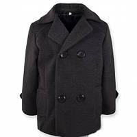 Пальто кашемировое для мальчика серого цвета
