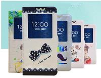 [ Чехол-книжка Lenovo S890 ] Красочный чехол-книжка с окошком на смартфон Леново 890