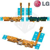 Шлейф для LG Optimus L70 D320 / D321 / MS323, коннектора зарядки, микрофона, с компонентами, оригинал
