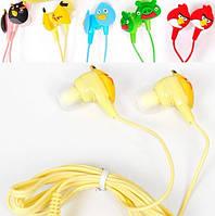 Детские наушники вакуумные Angry Birds *1678