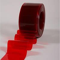 Материал ПВХ 200х2 красный (полупрозрачный)