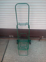 Тележка (кравчучка) хозяйственная, цельнометаллическая, железные колеса на подшипниках, высота 90 см, фото 1