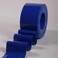 Материал ПВХ 200х2 синий прозрачный и непрозрачный