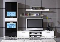 Мебельная стенка Zara I Белый + черный