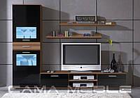 Мебельная стенка Zara I Слива + черный