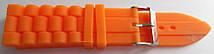Ремінець каучук Рельєфний (Польща) 24 мм помаранчевий