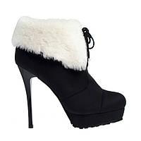 Ботинки женские зимние на каблуке