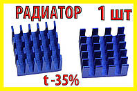 Радиатор для памяти 15х15мм  DDR DDR2 DDR3 SDRAM термо охлаждение память