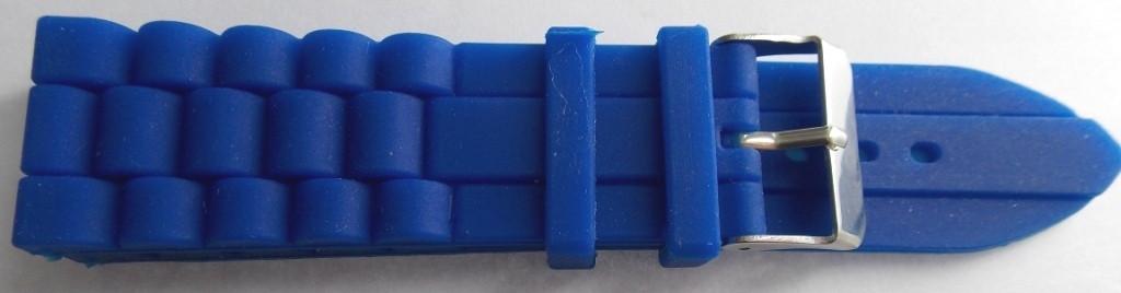 Ремешок каучук Рельефный (Польша) 24 мм. синий