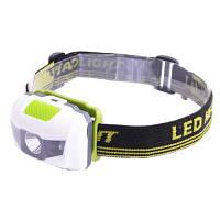 Налобный фонарик Bailong 118-LM+2Led, красный+белый свет, сигнальная видимость до 0,3 км, фонарик на лоб,