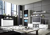 Мебельная стенка Zara II Белый + черный