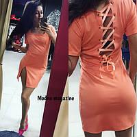 Платье с люверсами № 204