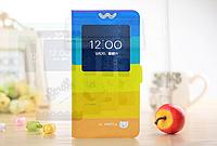 [ Чехол-книжка Lenovo S890 ] Красочный чехол-книжка с окошком на смартфон Леново 890 Радуга