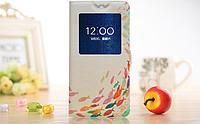 [ Чехол-книжка Lenovo S890 ] Красочный чехол-книжка с окошком на смартфон Леново 890 Рыбки