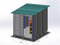 Строительство модульных котельных из профнастила и металлокаркаса
