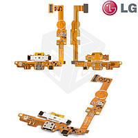 Шлейф для LG Optimus L5 E450/E460, коннектора зарядки, с компонентами, с микрофоном (оригинальный)