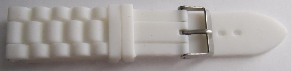 Ремешок каучук Рельефный (Польша) 22 мм. белый