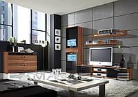 Мебельная стенка Zara II Слива + черный