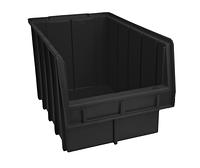 Ящик пластиковый 700 ЧЕРНЫЙ, с размерами ДхШхВ 350х210х200 мм
