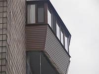 Балконы под ключ, вынос балконов, обшывка балкона