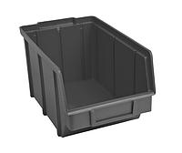 Ящик пластиковый 701 ЧЕРНЫЙ, с размерами ДхШхВ 230х140х125 мм