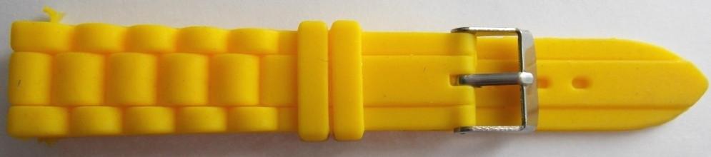 Ремешок каучук Рельефный (Польша) 18 мм. желтый