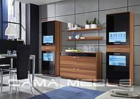 Мебельная стенка Zara III Слива + черный