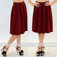 Трикотажная юбка до колена
