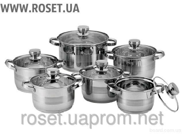 Набор Кастрюль Supretto 12 предметов (для всех видов плит)
