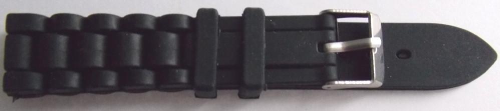 Ремешок каучук Рельефный (Польша) 18 мм. черный