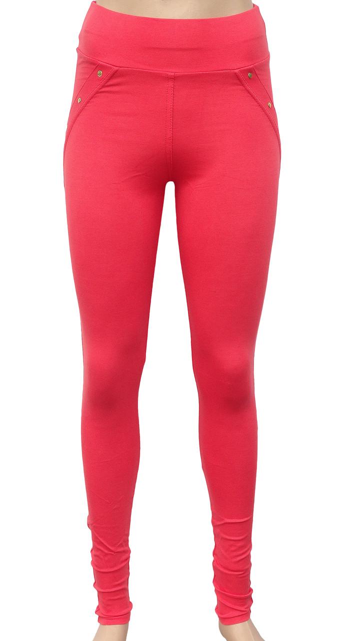 Модные женские леггинсы из трикотажа 42-48 (в расцветках)