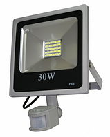 Светодиодный прожектор 30 Вт с датчиком движения и датчиком света smd2835 6500К, фото 1