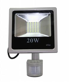 Светодиодный прожектор 20 Вт smd2835 6500К с датчиком движения и датчиком света