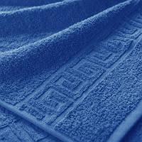 Махровые полотенца с бордюром 100х180; плотность: 500 г/м² синий