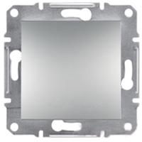 Переключатель Schneider-Electric Asfora Plus 1-клавишный проходной алюминий. EPH0400161