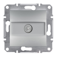 Розетка Schneider-Electric Asfora Plus SAT проходная алюминий. EPH3700261