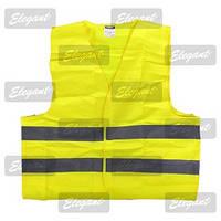 Жилет жовтий 120г/см сертифікат EN471 ( сумка ) / EL 100 593 (шт.)