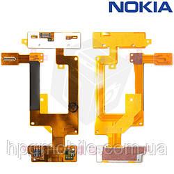 Шлейф для Nokia C2-03, C2-06, C2-07, C2-08, межплатный, с клавиатурным модулем, оригинал