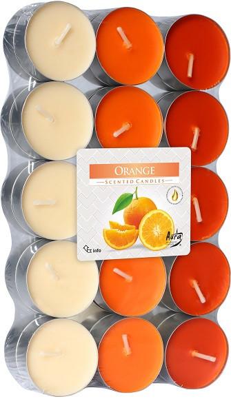 Свеча чайная ароматизированная Bispol Апельсин 1.5 см 30 шт (p15-30-63)